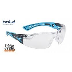 BOLLE RUSH+ SAFETY GLASSES BLUE/BLACK