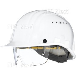 INTEGRATED EYE PROTECTOR HELMET