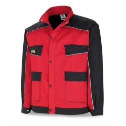 TERGAL 245 gr. CANVAS JACKET. Marine Red/Black.