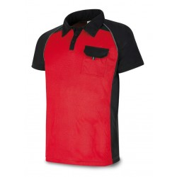 TERGAL 245 gr. CANVAS JACKET. Marine Red/Black.