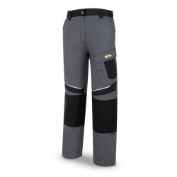 TERGAL 245 gr. CANVAS TROUSERS. Marine Red/Black.
