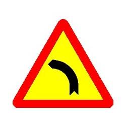 LEFT DANGEROUS CURVE SIGN