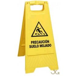 SEÑAL PVC PLEGABLE- PRECAUCIÓN SUELO MOJADO