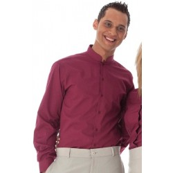 Camisa d'home coll mao, màniga llarga