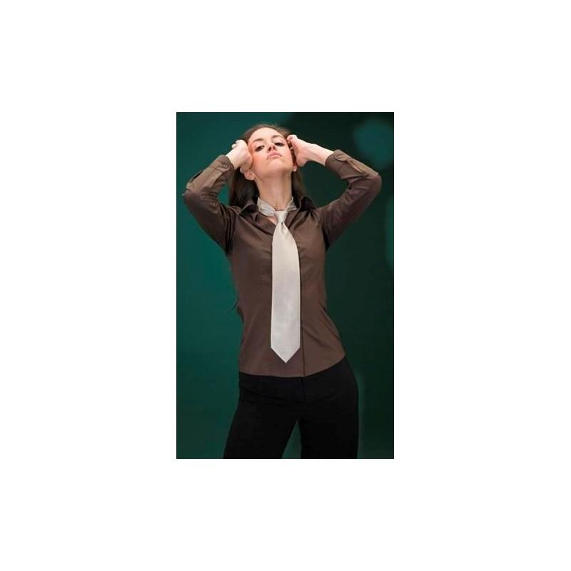 Camisa senyora de màniga llarga i coll mao