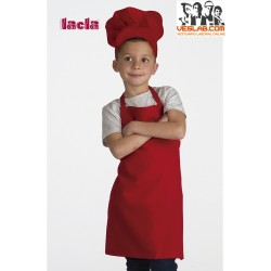 APRON AND HAT LACLA CHILDREN