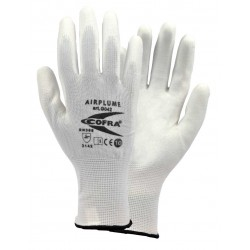 GUANTS COFRA AIRPLUME (PU) Paquet 12 uts.