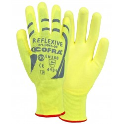 GUANTES COFRA REFLEXIVE (PU) PAQUETE 12 uds.