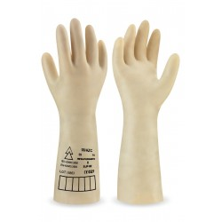 UNSUPPORTED NATURAL LATEX GLOVES. CLASE 1 - 7500V