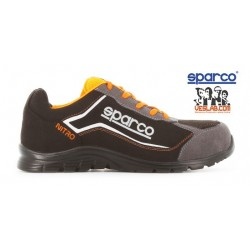 SPARCO TEAMWORK PRACTICE S3 SRC SAFETY BOOTS BLACK ORANGE