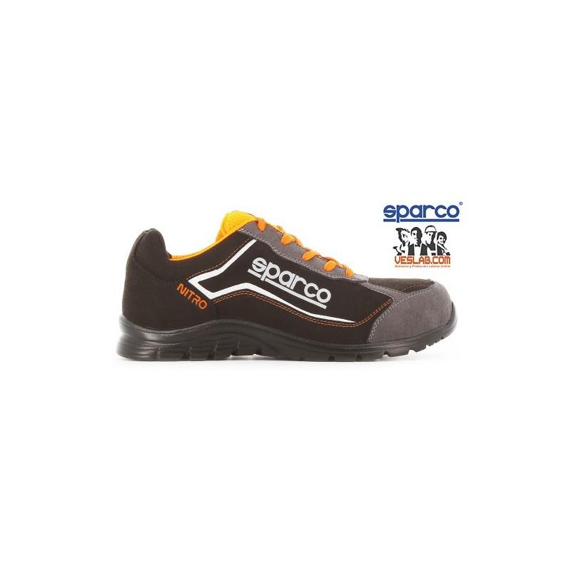 sneakers for cheap 49e8b 586d1 SPARCO TEAMWORK NITRO S3 SRC BLACK ORANGE SAFETY BOOTS
