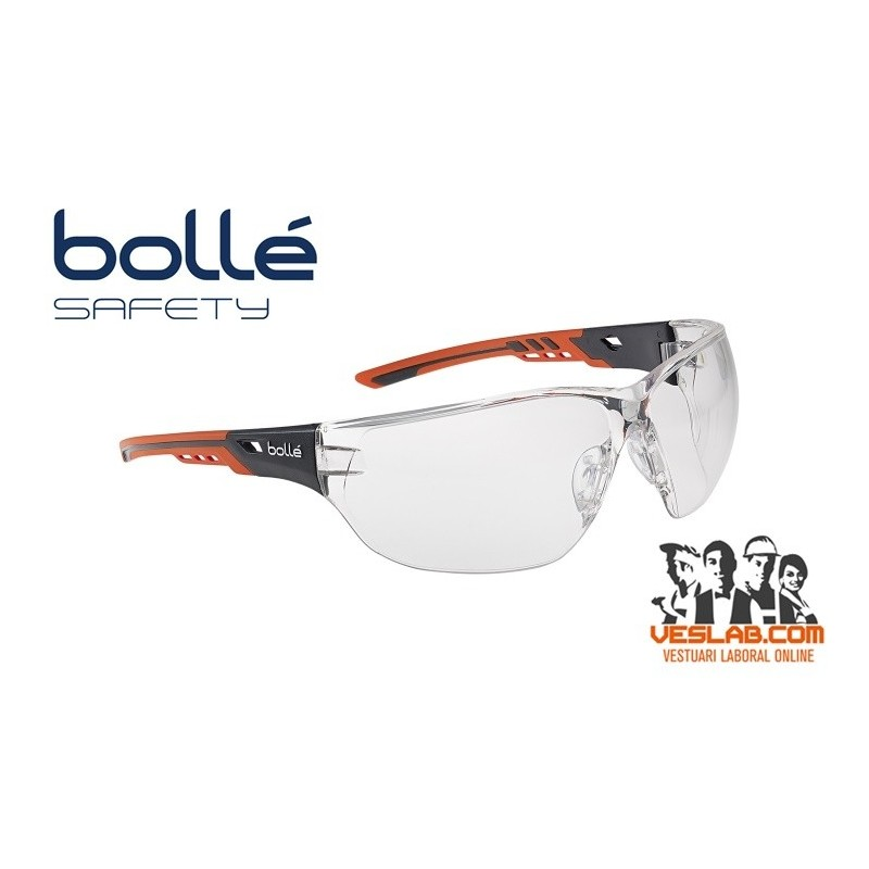 GAFAS BOLLE SAFETY NESS+ INCOLORA
