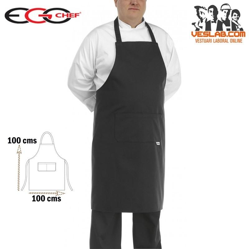 PETO COCINA BIG APRON BLACK
