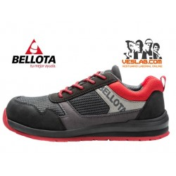 BELLOTA STREET BLACK RED S1P SRC SAFETY SHOES