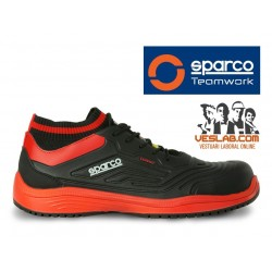 SPARCO LEGEND S3 SAFETY SHOES BLACK RED