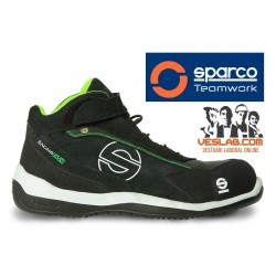 SPARCO TEAMWORK RACING EVO S3 SRC SAFETY BOOTS LIME
