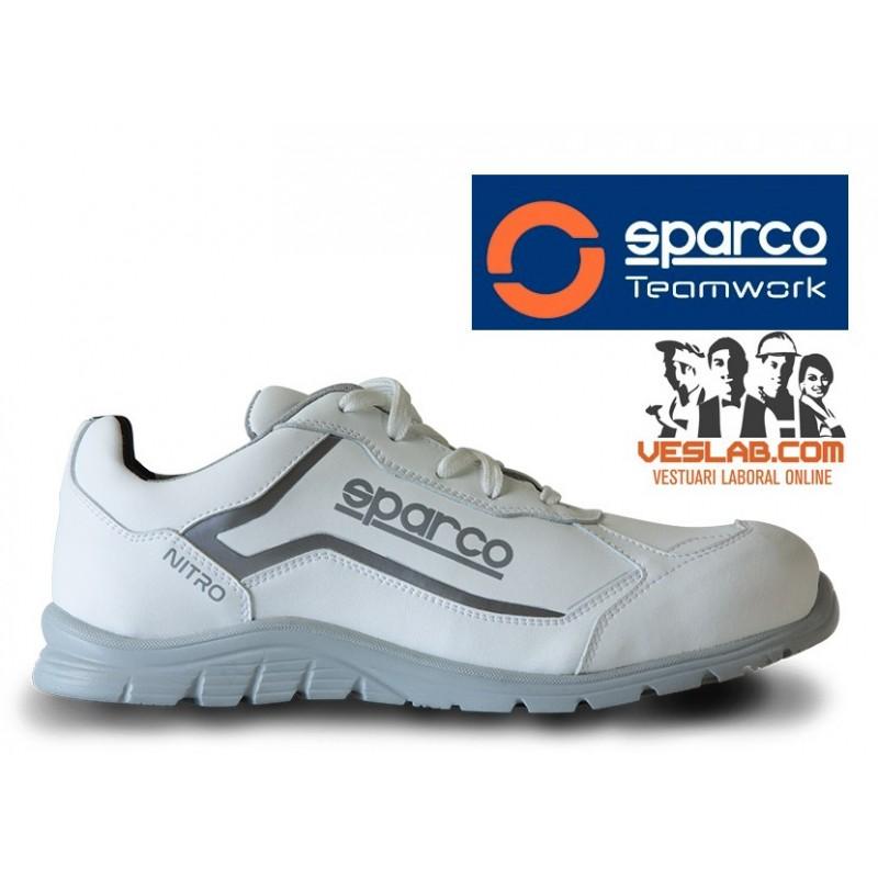 CALZADO DE SEGURIDAD SPARCO TEAMWORK NITRO S3 SRC WHITE