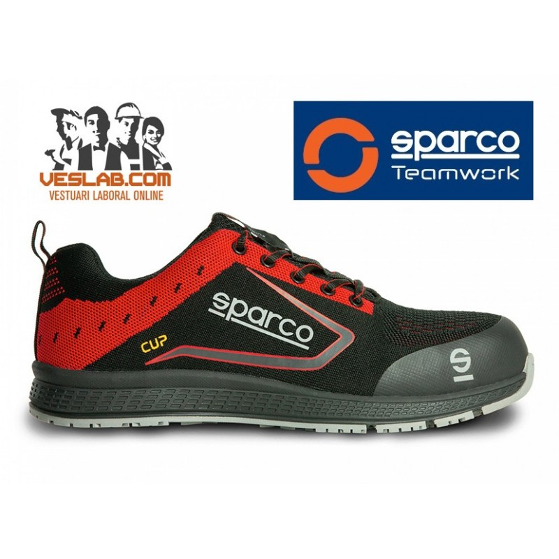 SPARCO TEAMWORK NEW CUP S1 P SRC RED SAFETY BOOTS