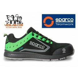 SPARCO TEAMWORK NEW CUP S1 P SRC GREEN FLUO SAFETY BOOTS