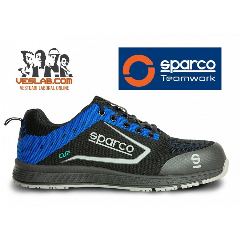SPARCO TEAMWORK NEW CUP S1 P SRC BLUE SAFETY BOOTS