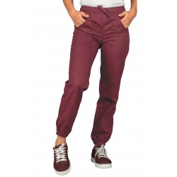 PANTALON BORDEAUX WITH ELASTIC WOMAN