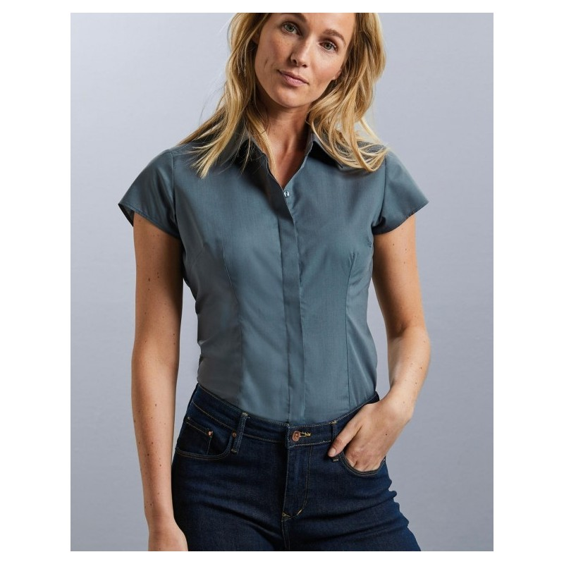 POPELIN SHORT SLEEVES WOMAN SHIRT