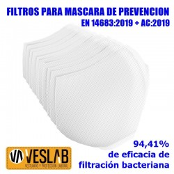 PREVENTION MASK FILTERS (10 uts.)