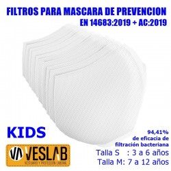 PREVENTION MASK FILTERS KIDS (10 uts.)