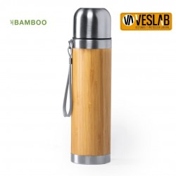 BAMBOO AND STAINLESS STEEL CONTAINER THERMOS
