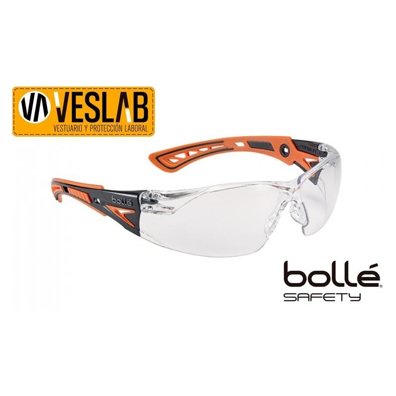 BOLLE RUSH+ SAFETY GLASSES BLUE/BLACK