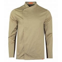 KITCHEN JACKET WITH CONTRASTING TRIM
