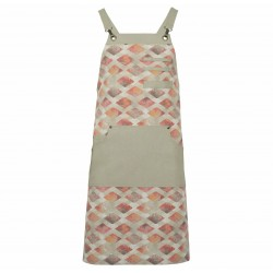 CONTRASTING ROMBS APRON