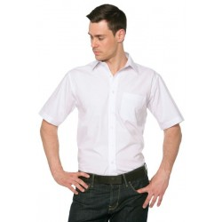 CHEMISE POPELINE HOMME MANCHES COURTES