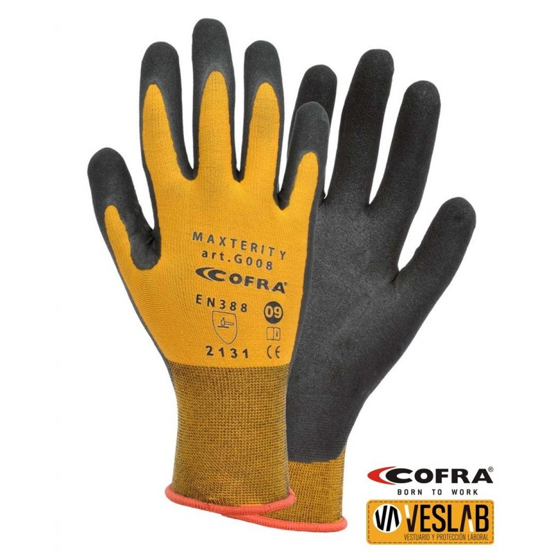 GUANTES COFRA MAXTERITY nitrilo PACK 12 UNID
