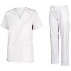 Pantalón Pijama Blanco con cremallera
