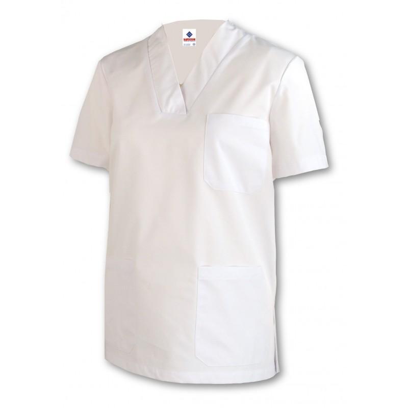 Camisola Pijama blanco con cuello de pico