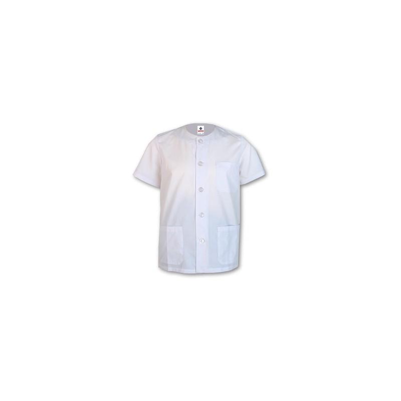 Camisola Pijama blanco con cuello redondo manga corta
