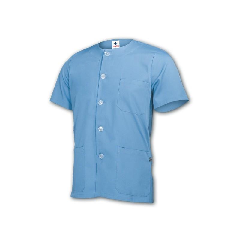 Camisola Pijama color con cuello redondo manga corta