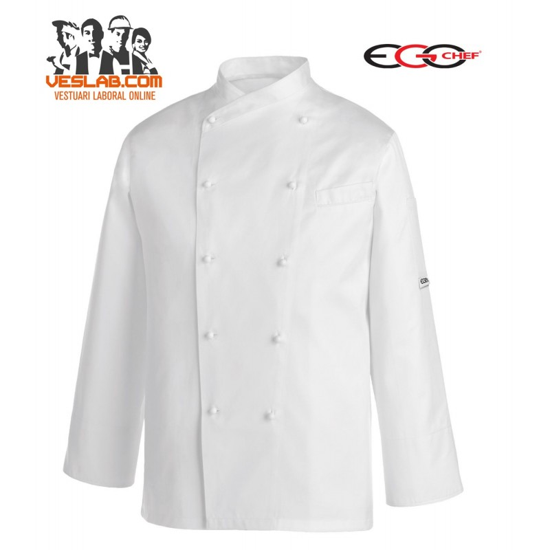 CHAQUETA COCINA GERARD WHITE PIPING