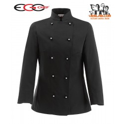 VESTE CUISINE SLIM FIT BLACK WOMAN