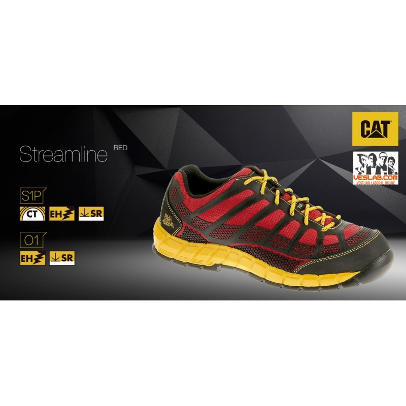 CHAUSSURES CATERPILLAR STREAMLINE RED S1P