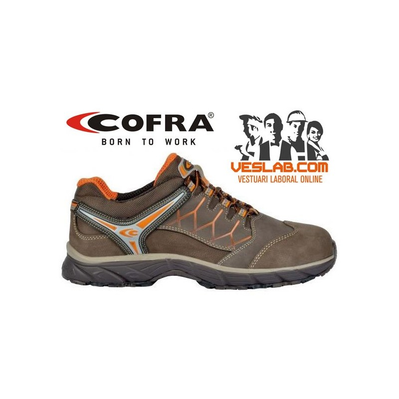 COFRA NEW RED EYE BROWN S3 SRC SAFETY TRAINERS