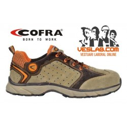 COFRA NEW TWISTER BEIGE S1 P SRC SAFETY TRAINERS