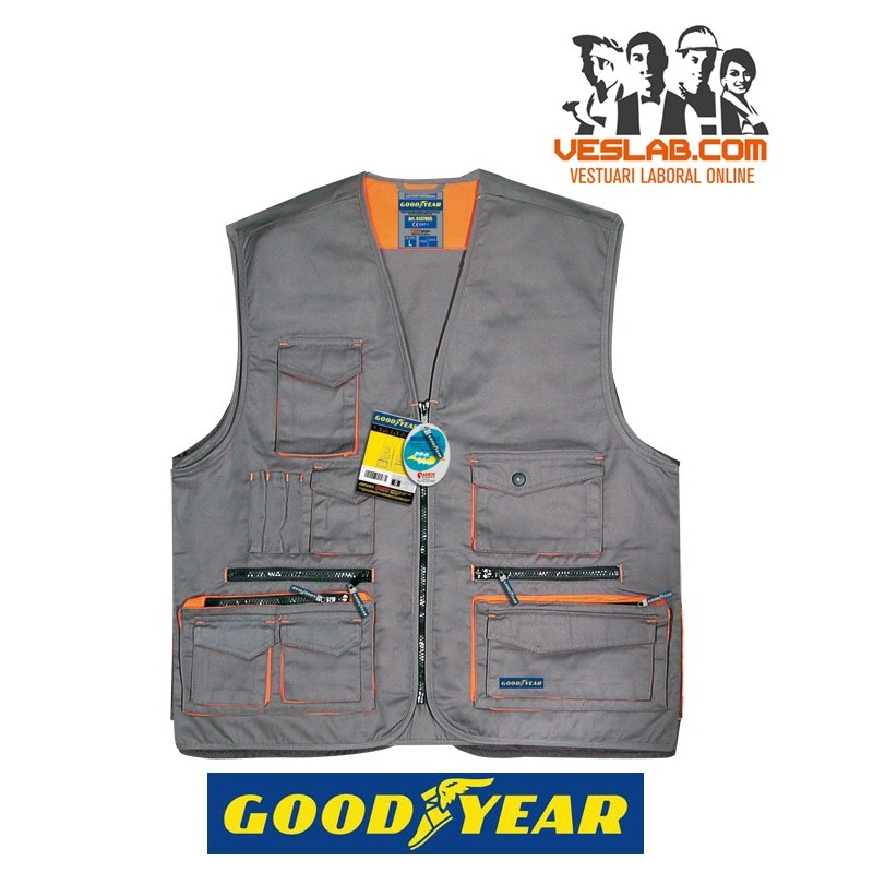 GILET MULTIPOCHES GOODYEAR