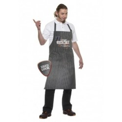 ROCK CHEF STRIPE BIB APRON