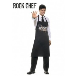 DELANTAL A RAYAS ROCK CHEF