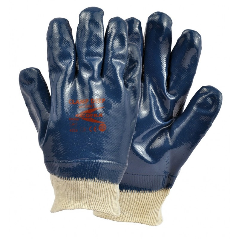 GUANTES COFRA CLAMP DEEP (Nitrilo)
