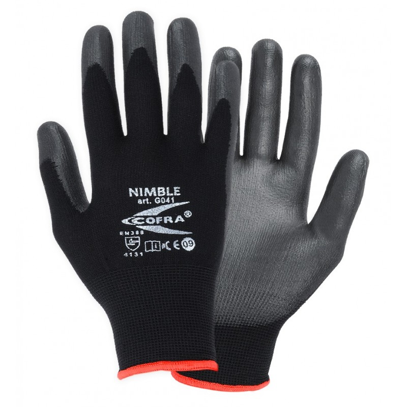 GUANTES COFRA NIMBLE (PU) PAQUETE 12 uds.