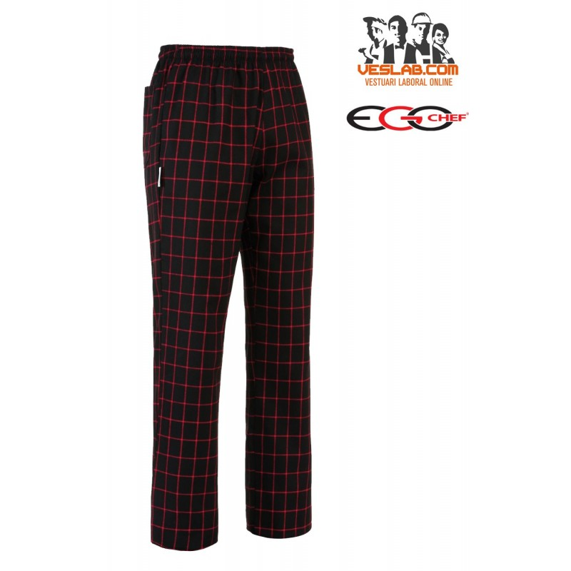 PANTALON EGOCHEF RED SQUARE