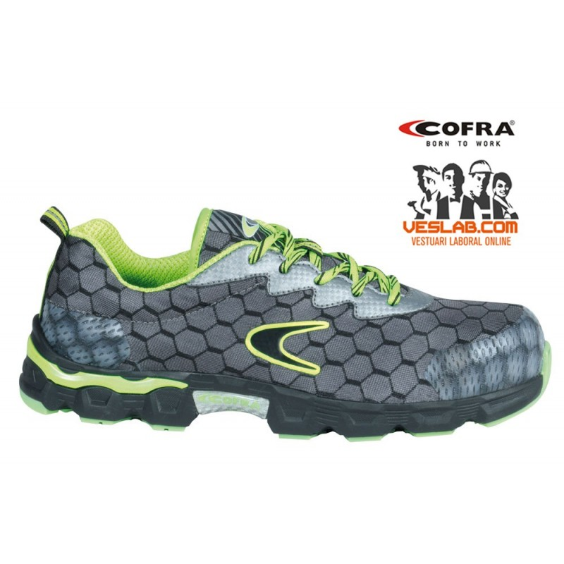 CALZADO COFRA LOW BALL GREY / LIME S1 P SRC